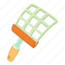 aggressive, cartoon, fly, mosquito, pest, swatter, tool icon