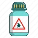 bite, bottle, cartoon, control, insect, mosquito, pest