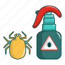 acarus, bug, cartoon, concept, disease, disinfection, insect