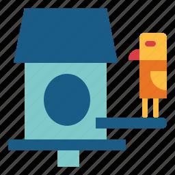animals, birdhouse, birds, pet icon