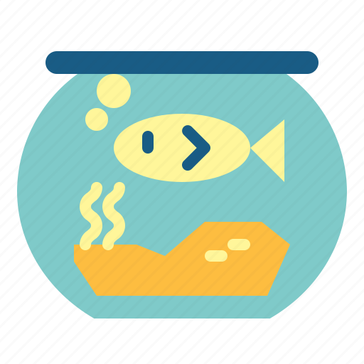 bowl, fish, pet icon