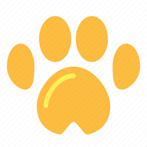 animals, dog, paw, pawprint, pet icon