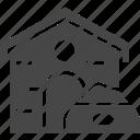 dog, house icon