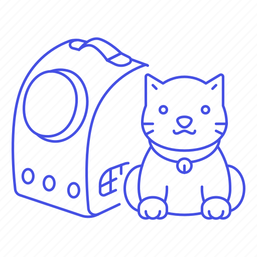 2, animal, backpack, bag, capsule, care, carrier, cat, kitty, pet, red, transport, travel, yellow icon