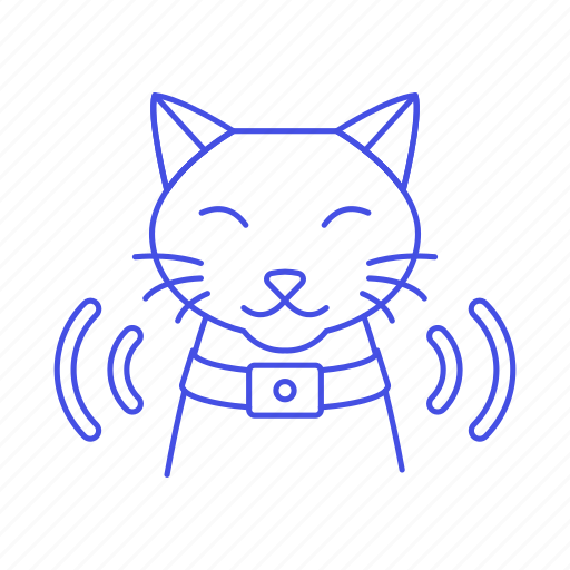 animal, cat, chip, collar, device, devices, gps, pet, smart, tracker, tracking, transmitter icon