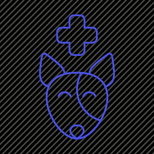 animal, care, cross, dog, health, pet, puppy, red, vet icon