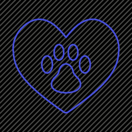animal, cat, dog, emoji, footprint, heart, love, paw, pet, pink, pride icon