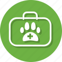 aid, animal, bag, health, medical, pet, pet medicine icon