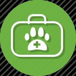 aid, animal, bag, health, medical, pet, pet medicine icon