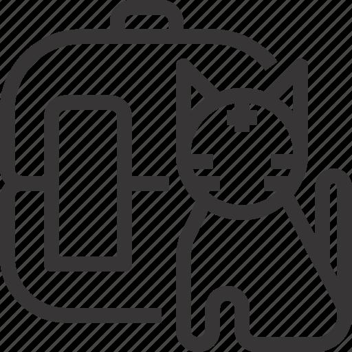 animal, cat, pet, shop, store, transportation, vet icon
