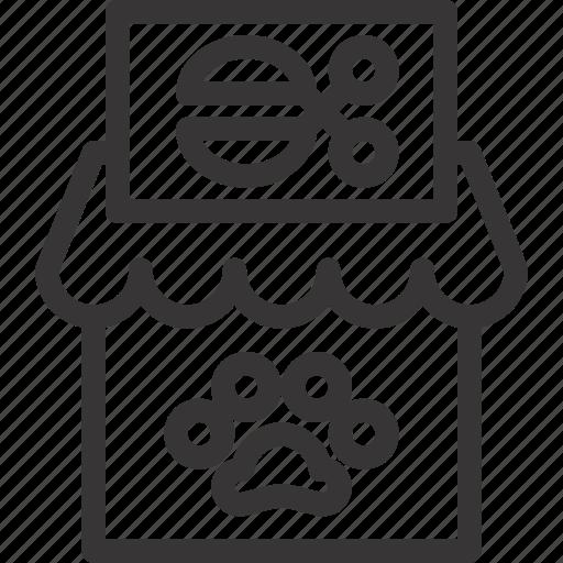house, pet, salon, shop, store icon