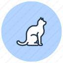 cat, kitten, pet, shop icon