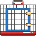 animal, cage, carrier, cat, dog, pet, transport icon