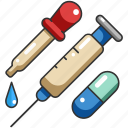 drug, medical, medicine, pill, syringe, tool, vaccine