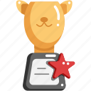 animal, award, champion, cup, pet, trophy, winner