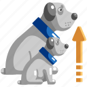 body, dog, growing, growth, life, pet, up icon