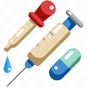 drug, medical, medicine, pill, syringe, tool, vaccine