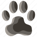 animal, cat, dog, foot, paw, pet, print icon