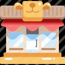 animals, buildings, market, pet, shopper, store, stores icon