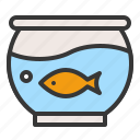 fish, fish bowl, golden fish, pet, shop icon