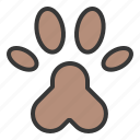 animal foot print, foot print, pet, shop icon