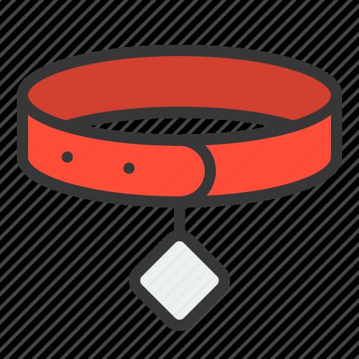 collar, dog collar, dog tag, pet, shop icon
