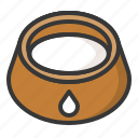 bowl, pet, pet bowl, shop icon