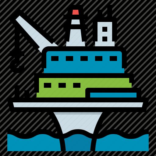 Drilling, offshore, oil, platform, rig icon - Download on Iconfinder
