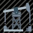 fuel, gas, oil, pumpjack, refinery icon