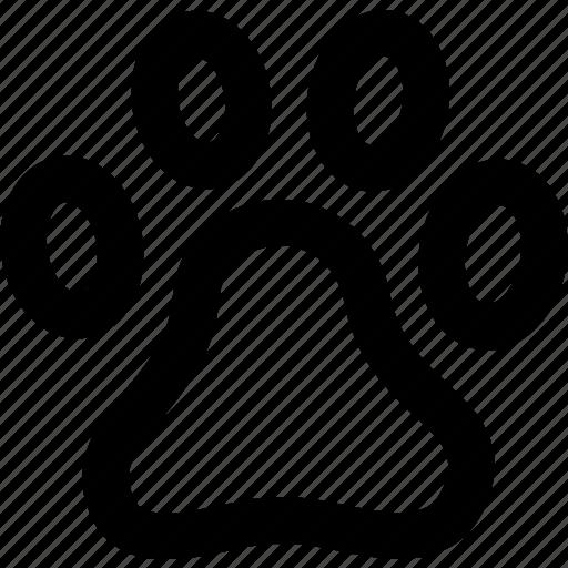 animal, footmark, footprint, pet, pets, track icon