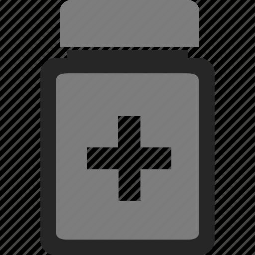 bottle, jar, medical, medicine icon
