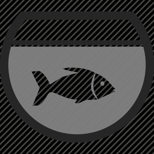 animal, fish, fish bowl, pet icon