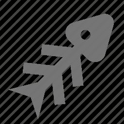 bone, fish, fish bone icon