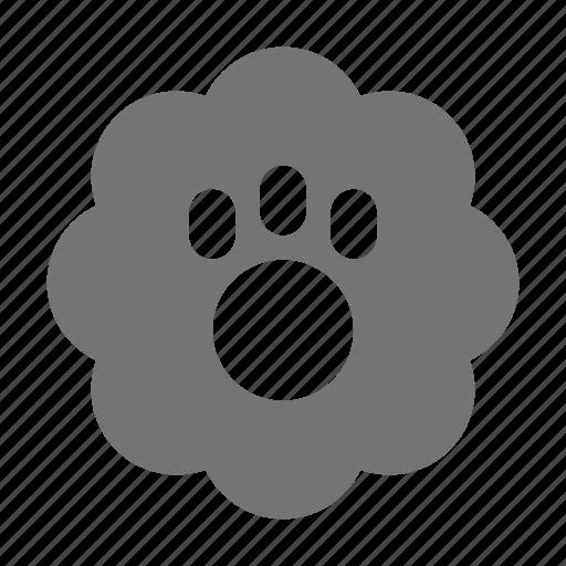 bubble, paw icon