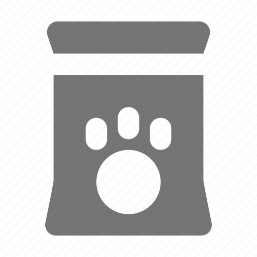bag, food, paw, pet fod icon