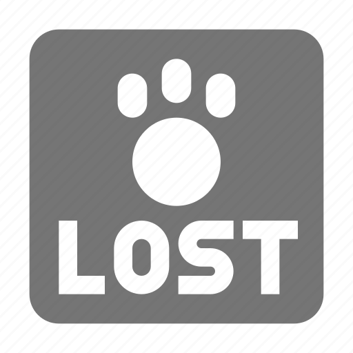animal, lost, lost pet, paw icon
