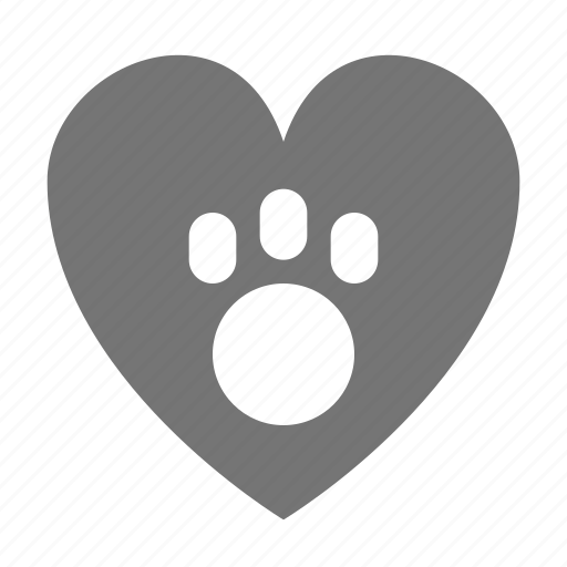 favorite, like, love, paw icon