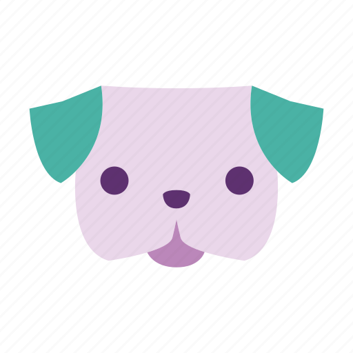 animal, cute, dog, pet, petshop, pug, puppy icon