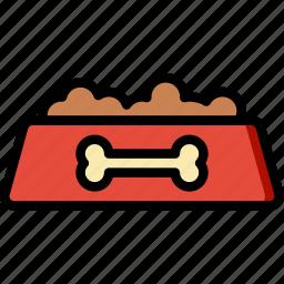 animal, bowl, dog, pet, petshop icon