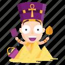 build, emoji, emoticon, pharaoh, pyramids, sticker icon