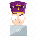 computer, emoji, emoticon, pharaoh, sticker icon