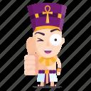 emoji, emoticon, pharaoh, sticker, thumbs, up icon