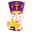 emoji, emoticon, likes, pharaoh, sticker, trophy icon