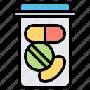 bottle, medicine, pills, supplements, treatment