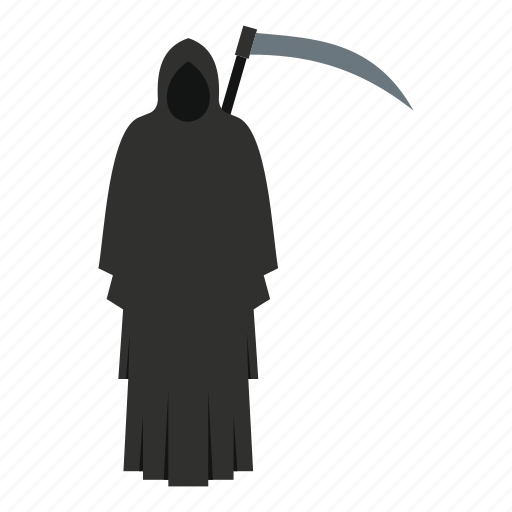 dark, dead, death, evil, halloween, horror, scythe icon