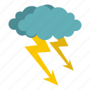 bolt, cloud, electricity, energy, lightning, storm, thunder icon
