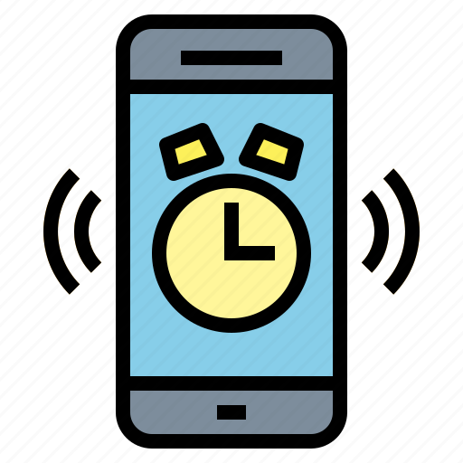 alarm, clock, smartphone, time, timer icon