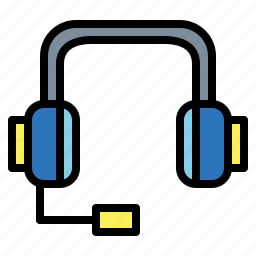 assistance, call, center, communications, delivery, headset icon
