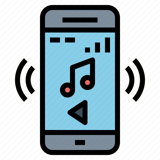 interface, music, player, smartphone, song icon