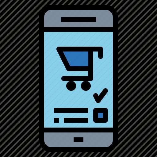 ecommerce, online, order, shop, smartphone icon